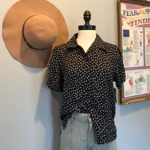 Vintage Button Up Tee